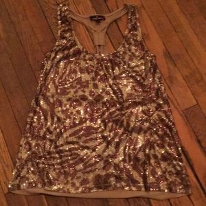 ALMOST FAMOUS racerback dressy tank. Size XL.